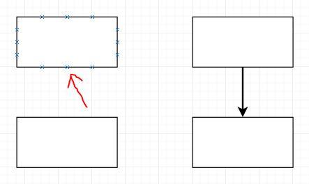 Draw.io Formen verbinden