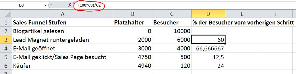 Sales Funnel Visualisierung In Excel 7